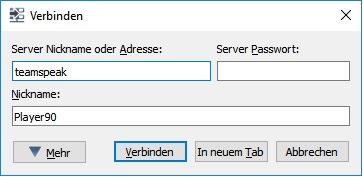 Mit TS3 verbinden 2017 (mit Server Nickname)