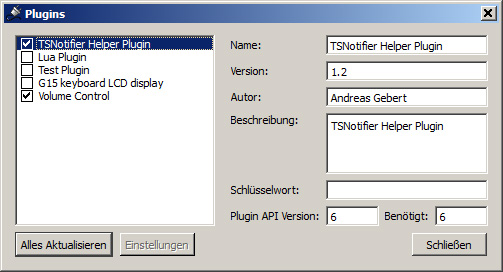 Teamspeak 3 Overlay: Helper Plugin aktivieren