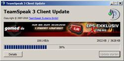 Teamspeak 3 Client Beta 31 und Server Update am Mittwoch