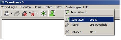 TS3 Server Admin Rechte (Identität) sichern