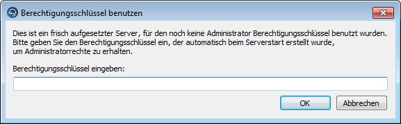 Berechtigungsschlüssel (Token) auf neuem Teamspeak Server