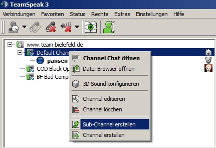 tun sie farben in chat räumen teamspeak chat rooms