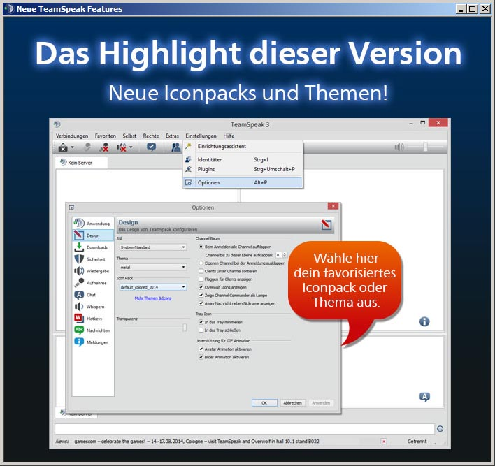 TeamSpeak 3 Client 3.0.16